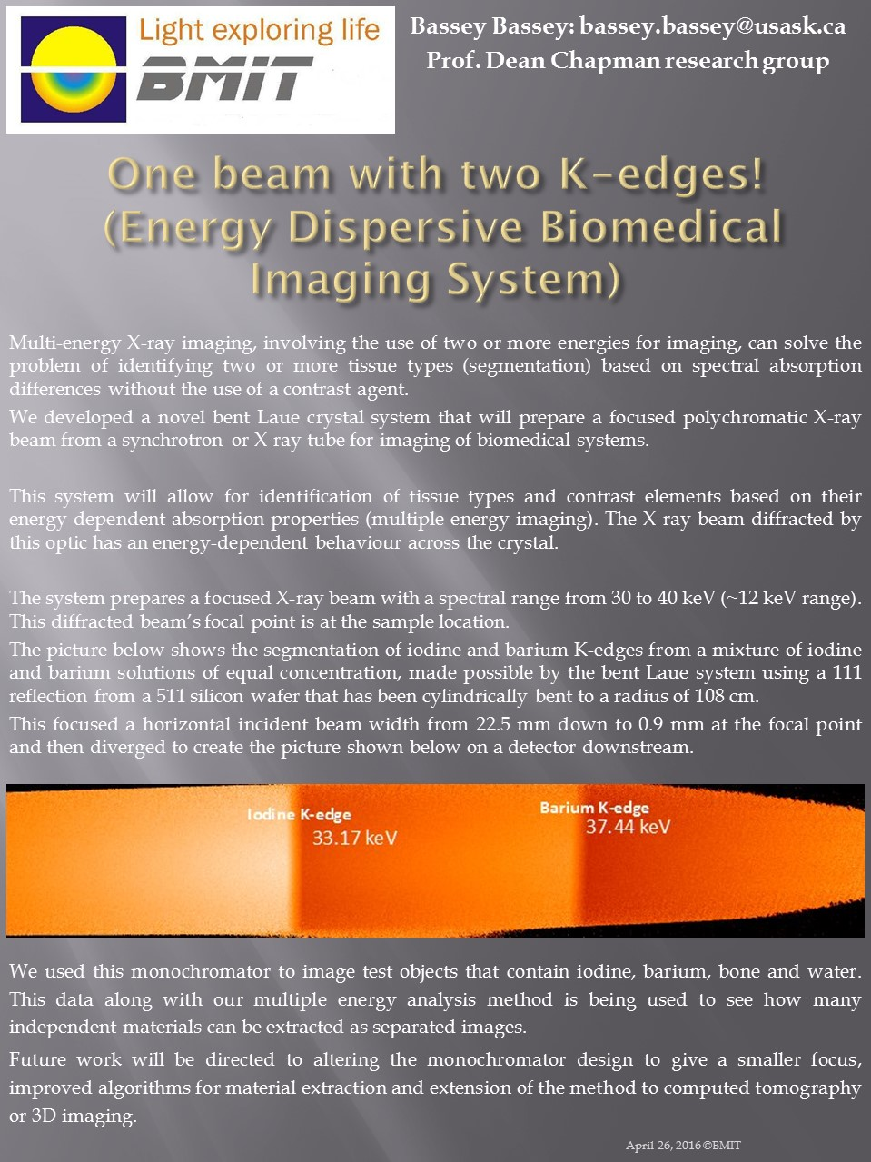 Energy Dispersive Biomedical Imaging System Image
