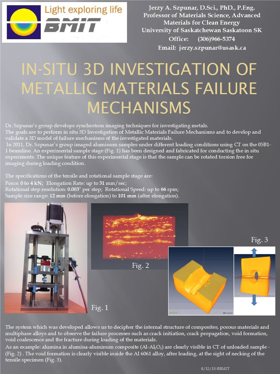 In-situ 3D Investigation of Metallic Materials' Failure Mechanisms Image