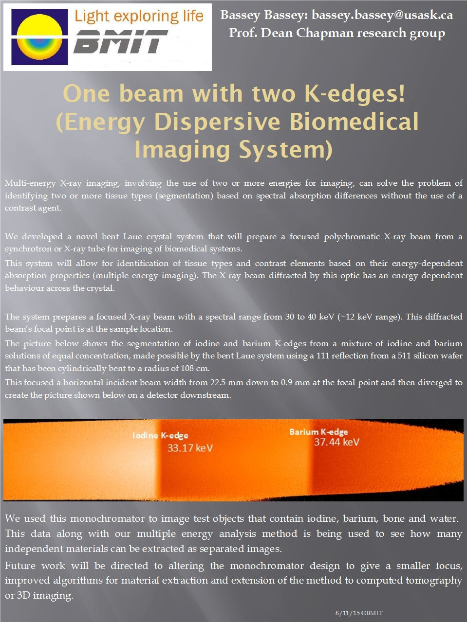 One Beam With Two K-Edges! Image
